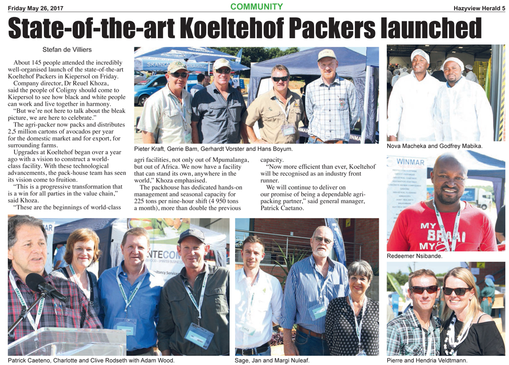 State-of-the-art Koeltehof Packers launched